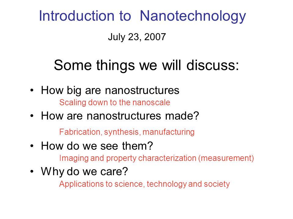 An application example: Nanoelectronics