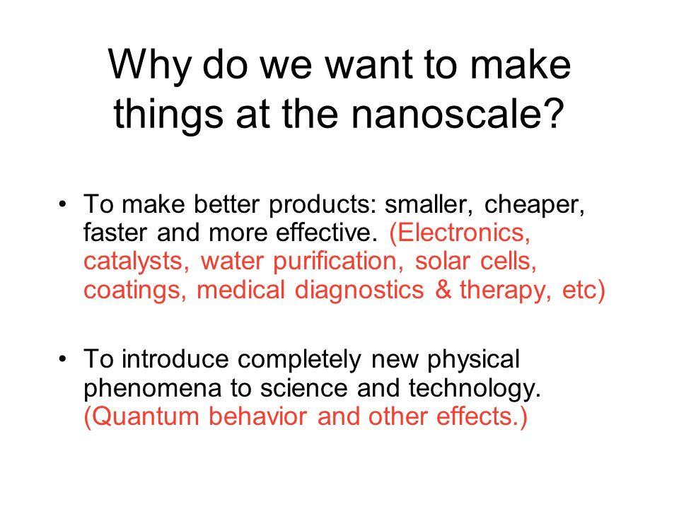Making Small Smaller An Example: Electronics-Microprocessors ibm.com macroscale microscale nanoscale