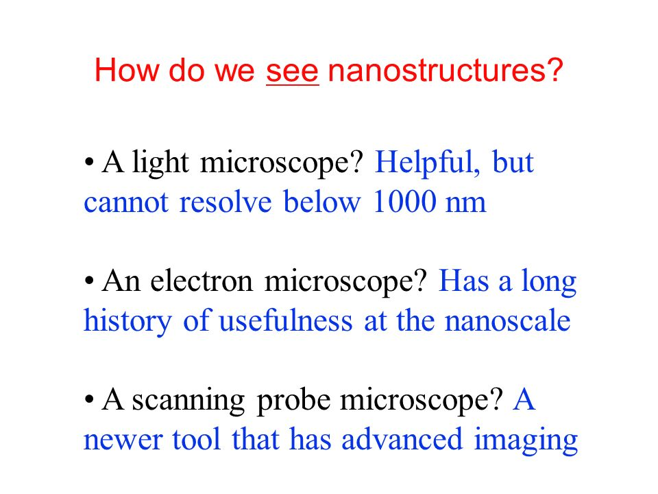 Measuring Nanostructures