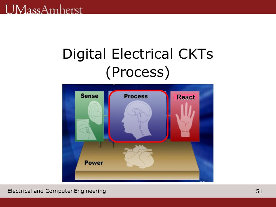 51 Electrical and Computer Engineering Digital Electrical CKTs (Process) React
