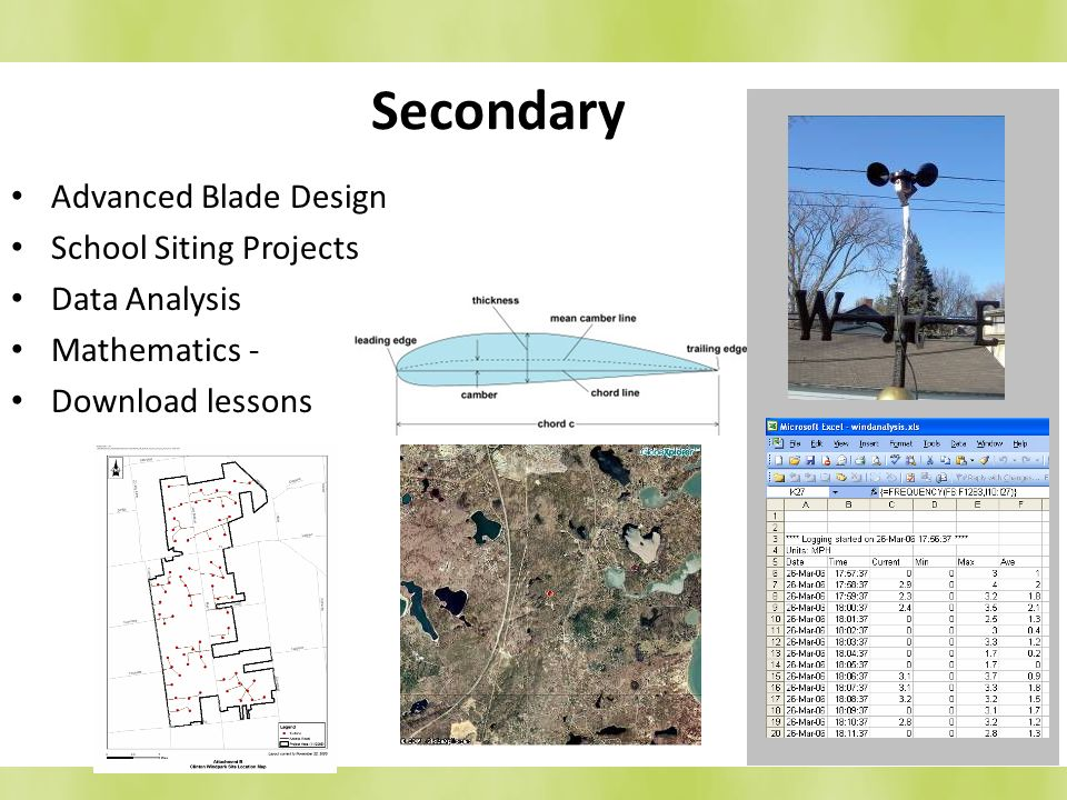 Secondary Advanced Blade Design School Siting Projects Data Analysis Mathematics - Download lessons