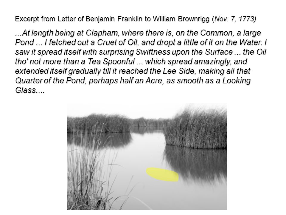 Excerpt from Letter of Benjamin Franklin to William Brownrigg (Nov.