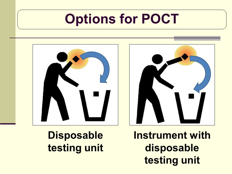 Options for POCT Disposable testing unit Instrument with disposable testing unit