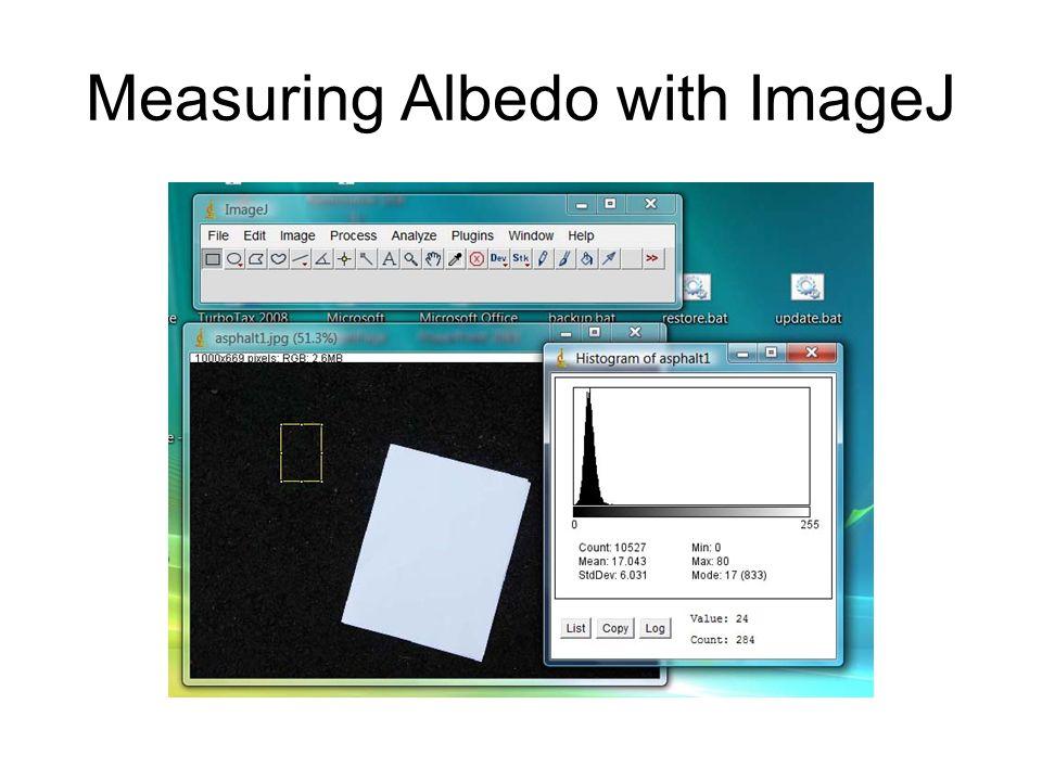 Measuring Albedo with ImageJ