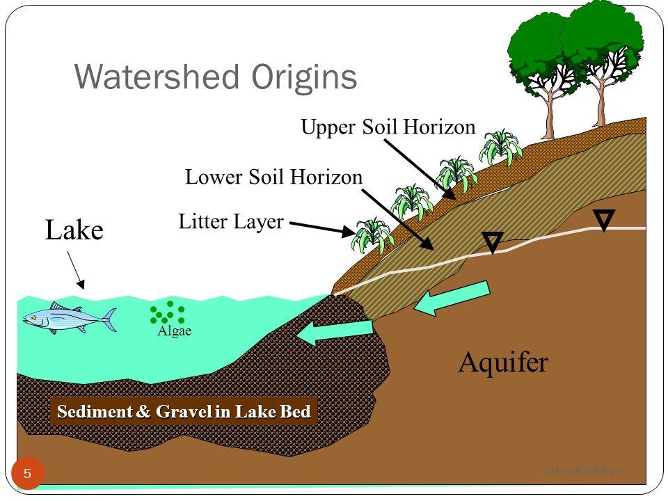Watershed Origins 5 Aquifer Lake Upper Soil Horizon Lower Soil Horizon Sediment & Gravel in Lake Bed Litter Layer Algae 5 Dave Reckhow