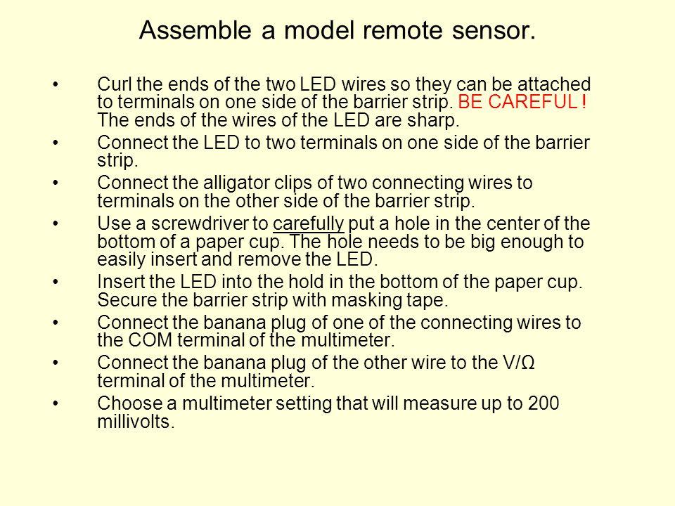 Assemble a model remote sensor.