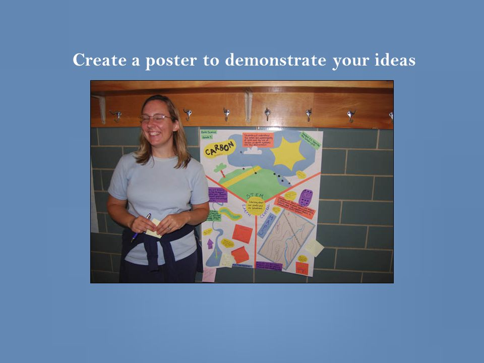 Create a poster to demonstrate your ideas