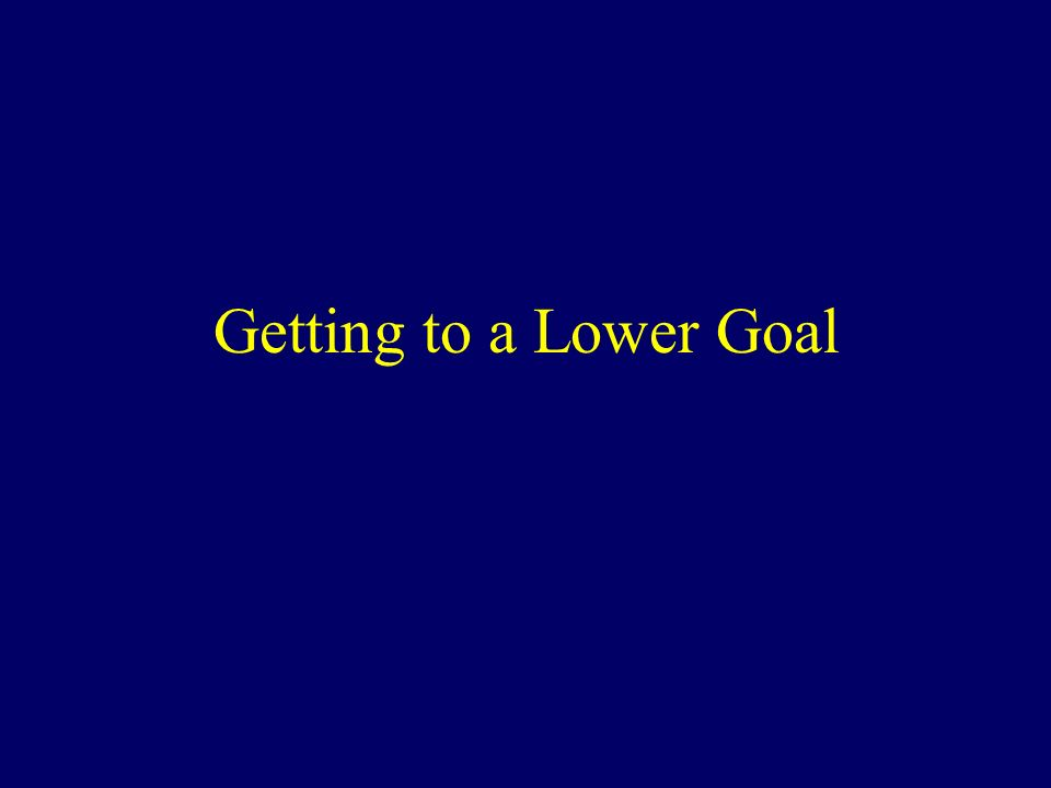 Getting to a Lower Goal