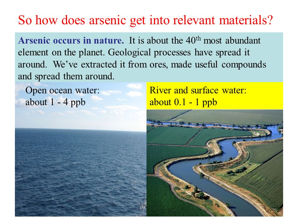 Realgar As 4 S 4 Arsenic trioxide As 2 O 3 Arsenic As Orpiment As 2 S 3 The arsenic in the environment story