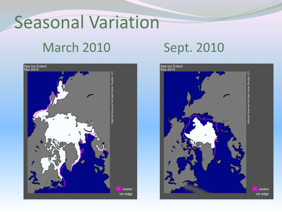 Seasonal Variation March 2010 Sept. 2010