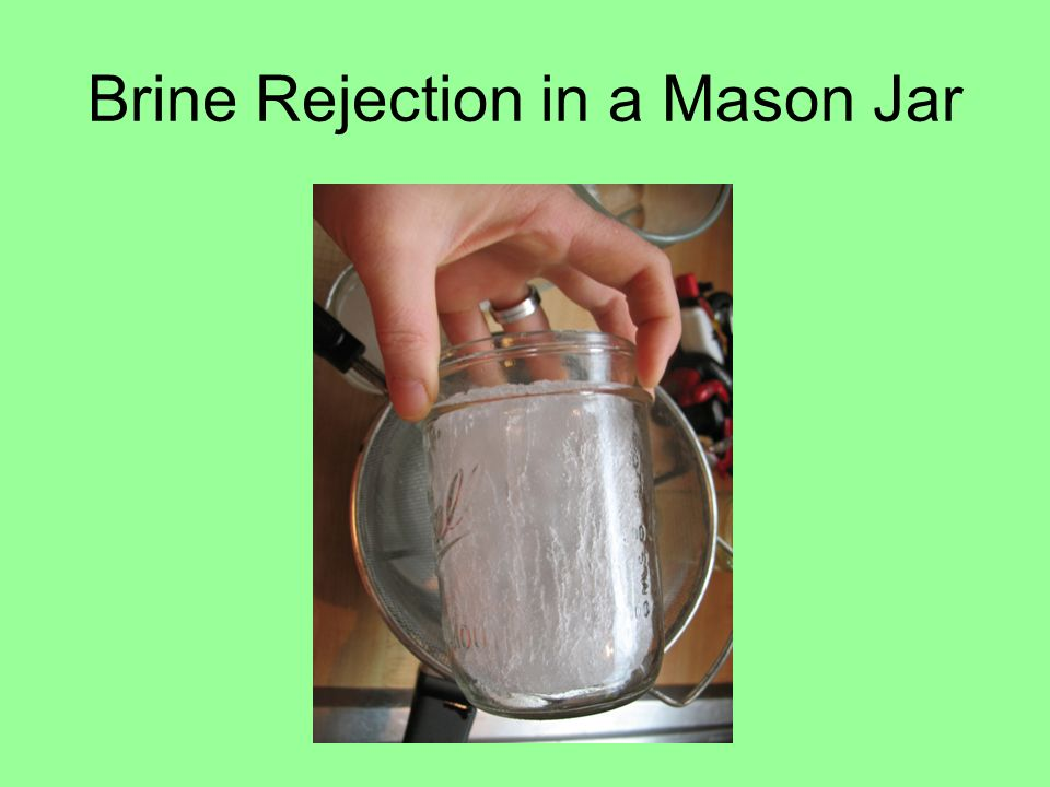 Brine Rejection in a Mason Jar