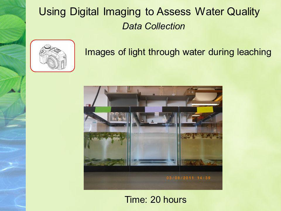Using Digital Imaging to Assess Water Quality Images of light through water during leaching Time: 20 hours Data Collection