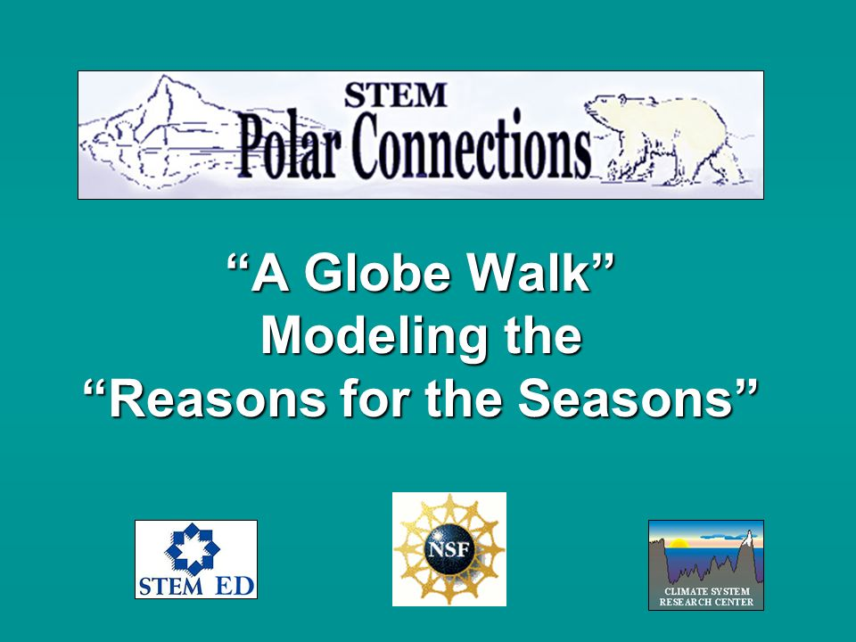 A Globe Walk Modeling the Reasons for the Seasons