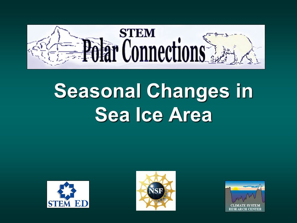 Seasonal Changes in Sea Ice Area