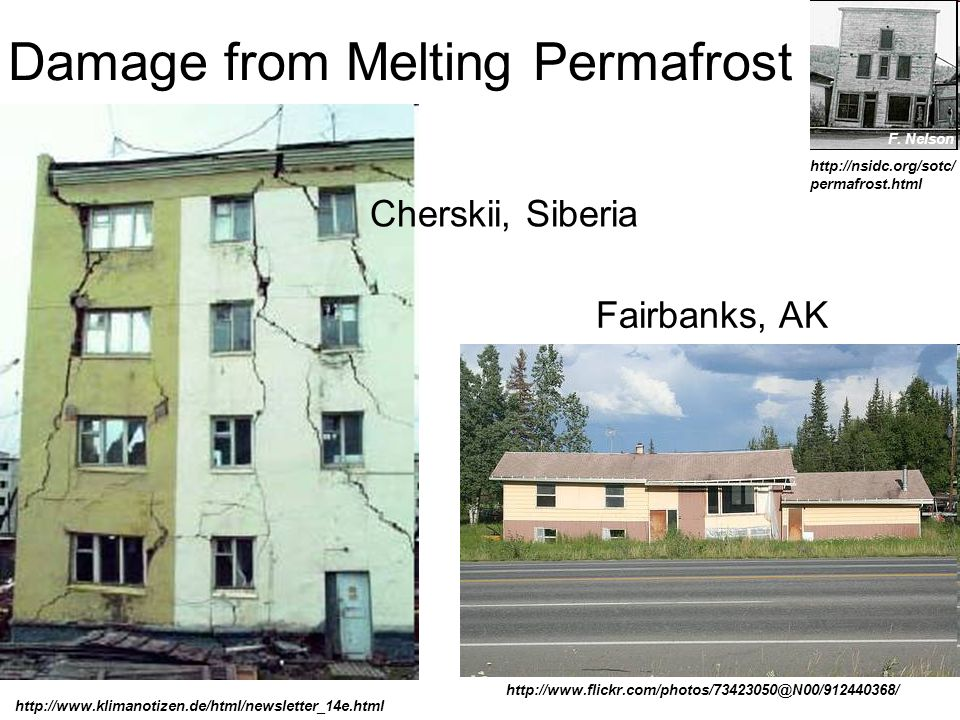 Damage from Melting Permafrost F.