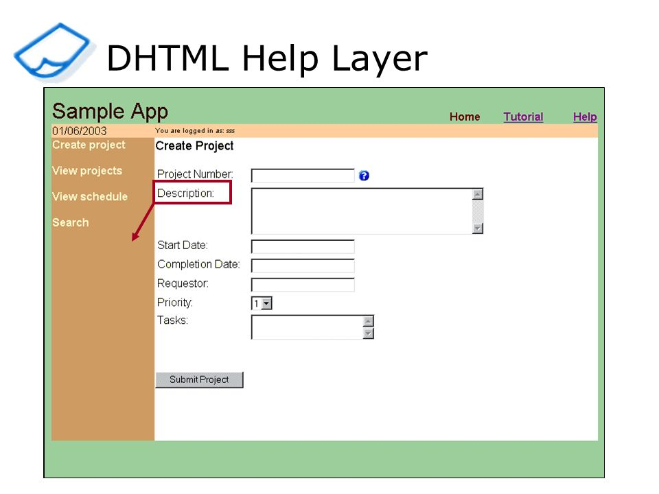 DHTML Help Layer