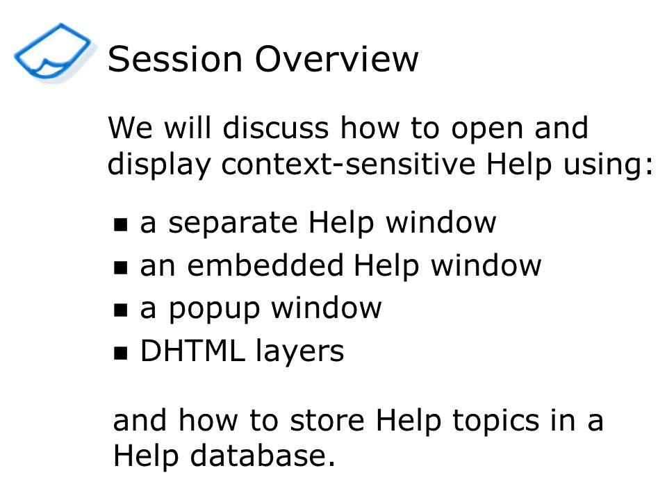 Sample Application Field-level HelpPage-level Help
