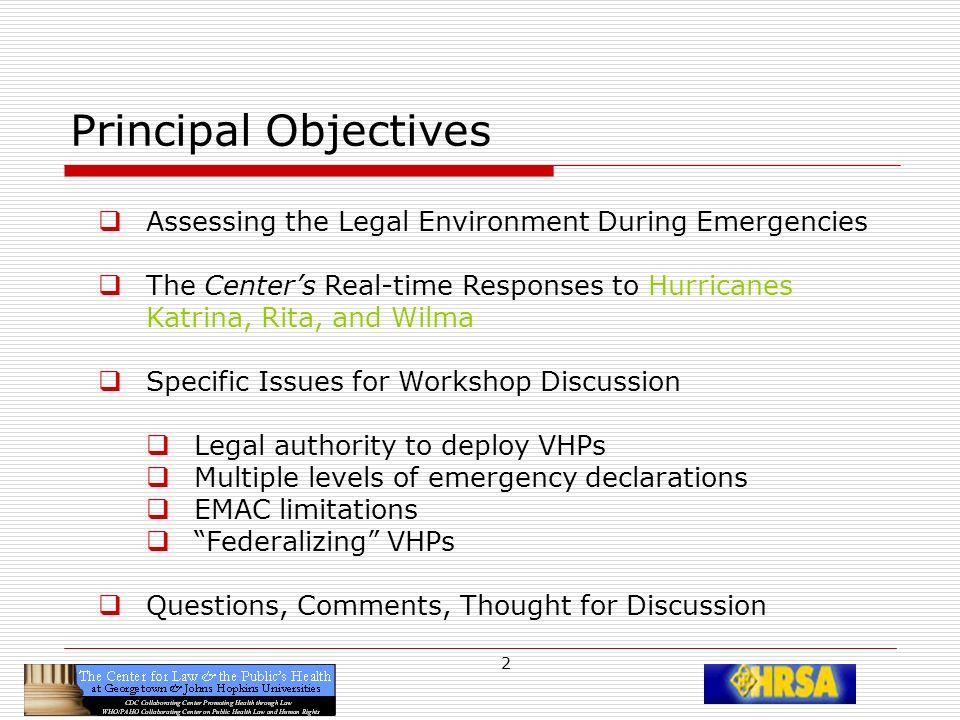 3 Assessing the Legal Environment in Emergencies Govern- ment InternationalNationalStateTribalCountyCityCommunity