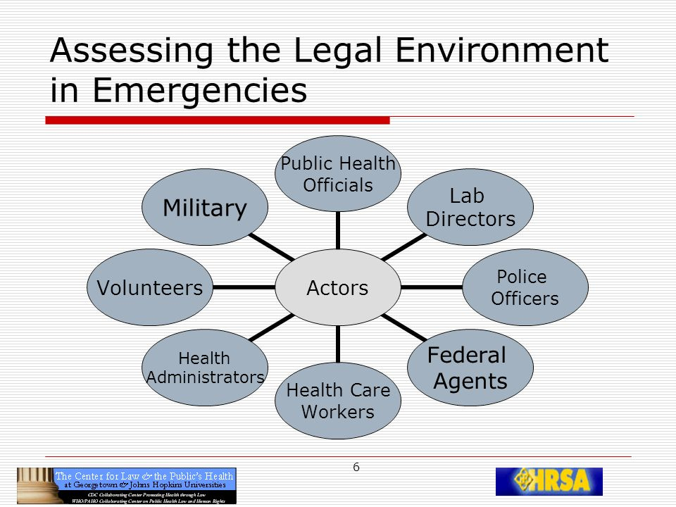 27 Federalization of VHPs: Opening the Door The federal government has authority to federalize VHPs during a declared general or public health emergency Federal Government