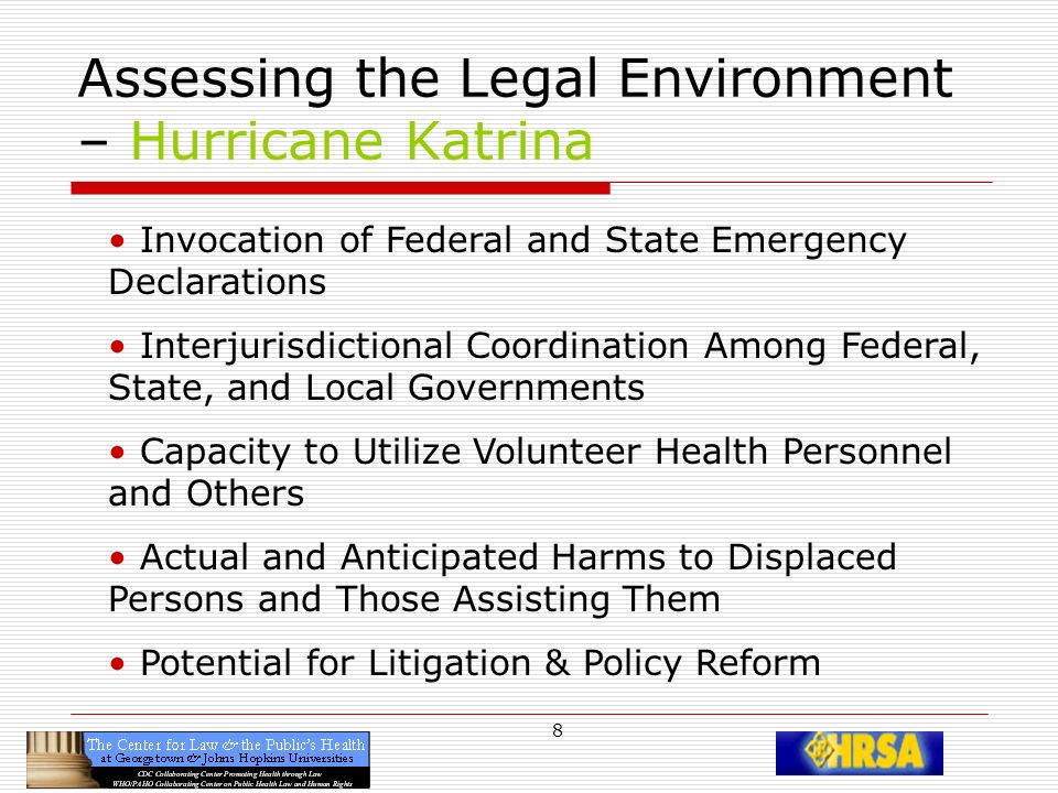 19 Multiple Levels of Emergency Declarations Local emergency or disaster Local public health emergency State emergency or disaster State public health emergency Federal FEMA emergency Federal DHHS public health emergency VHP deployment, uses, authorities, liabilities, immunities, protections from harm vary (and those with the answers) depend on the declared emergency