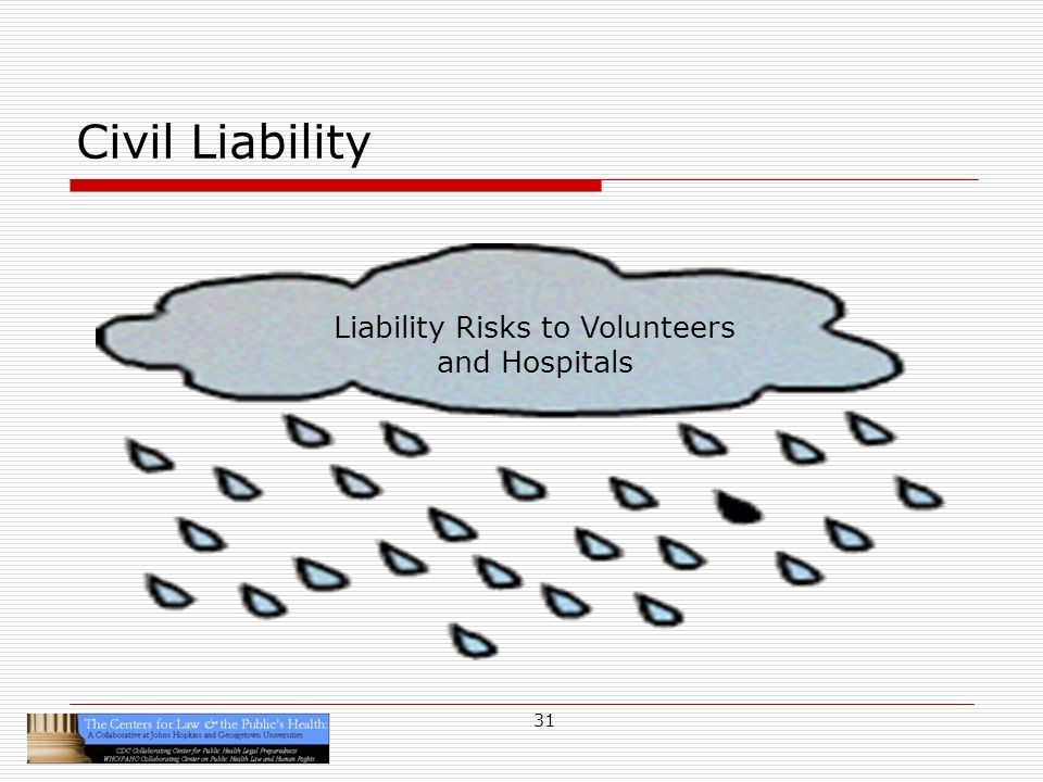 31 Civil Liability Liability Risks to Volunteers and Hospitals