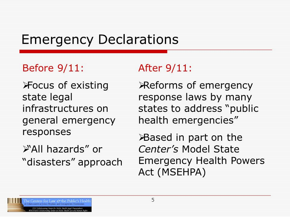 16 Multiple Levels of Emergency Declarations Local emergency or disaster Local public health emergency State emergency or disaster State public health emergency Federal FEMA emergency Federal DHHS public health emergency VHP deployment, uses, authorities, liabilities, immunities, protections from harm vary (and those with the answers) depend on the declared emergency