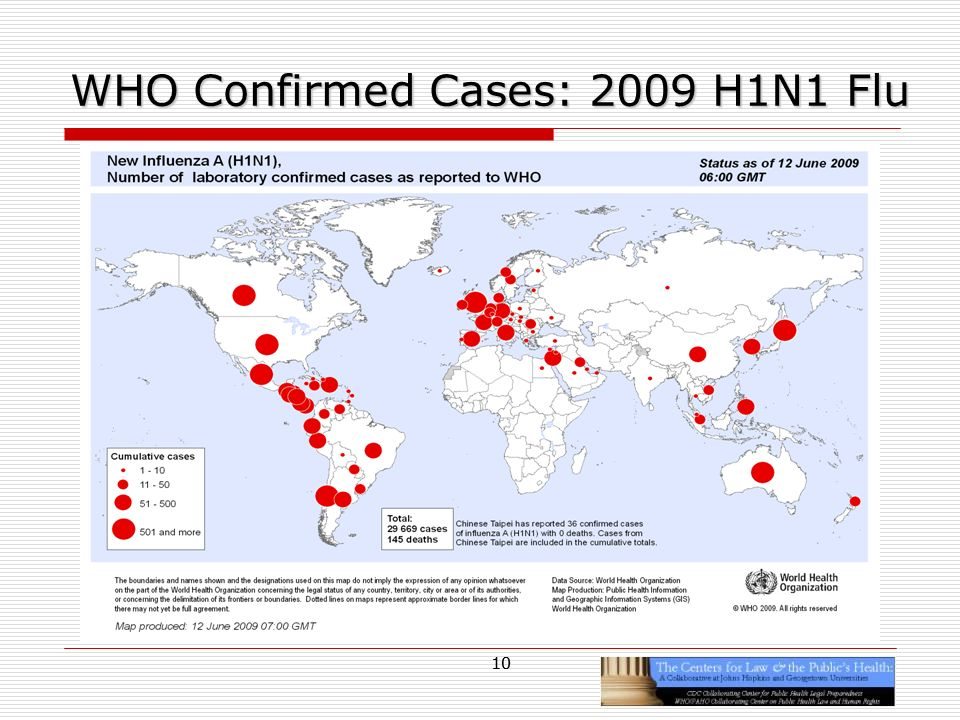 10 WHO Confirmed Cases: 2009 H1N1 Flu 10