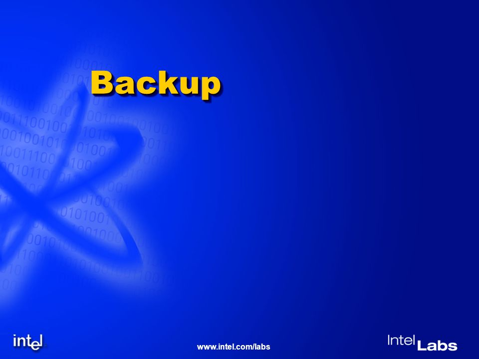www.intel.com/labs BackupBackup
