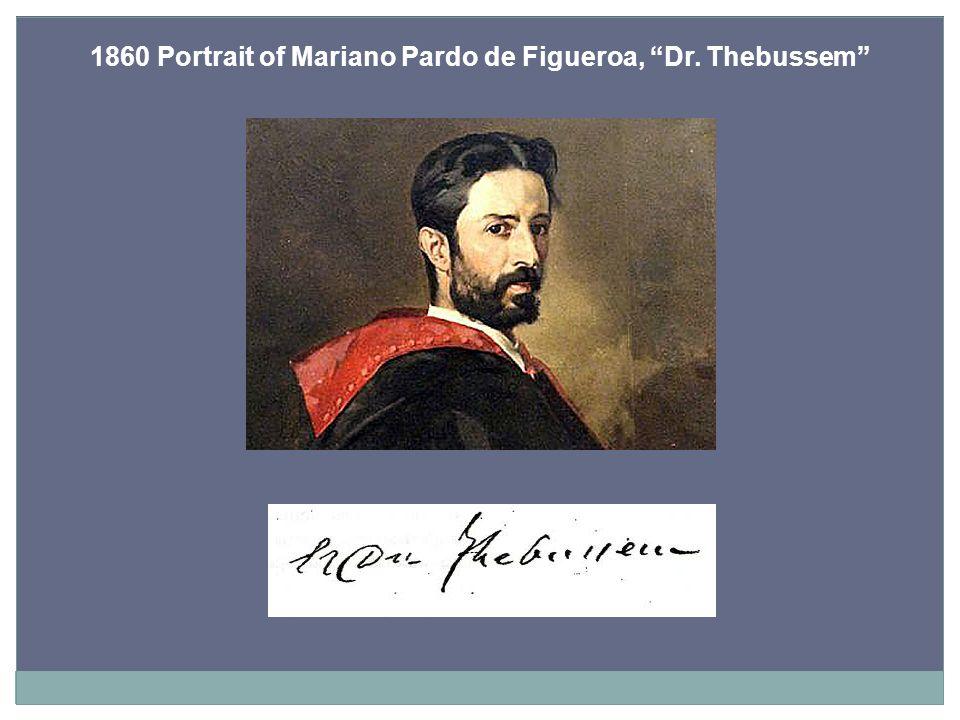 1860 Portrait of Mariano Pardo de Figueroa, Dr. Thebussem