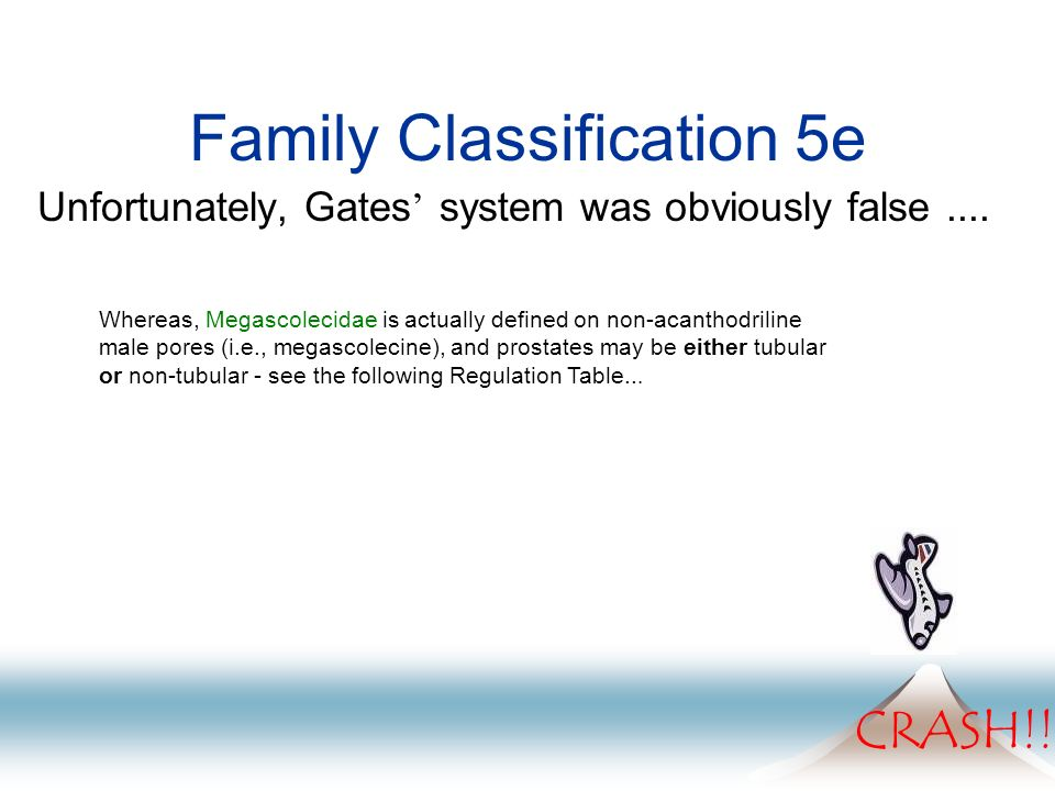 Family Classification 5e Unfortunately, Gates system was obviously false....