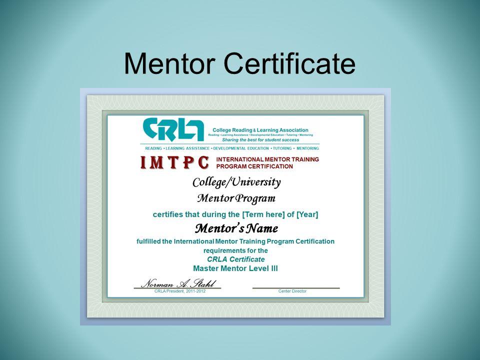 Mentor Certificate