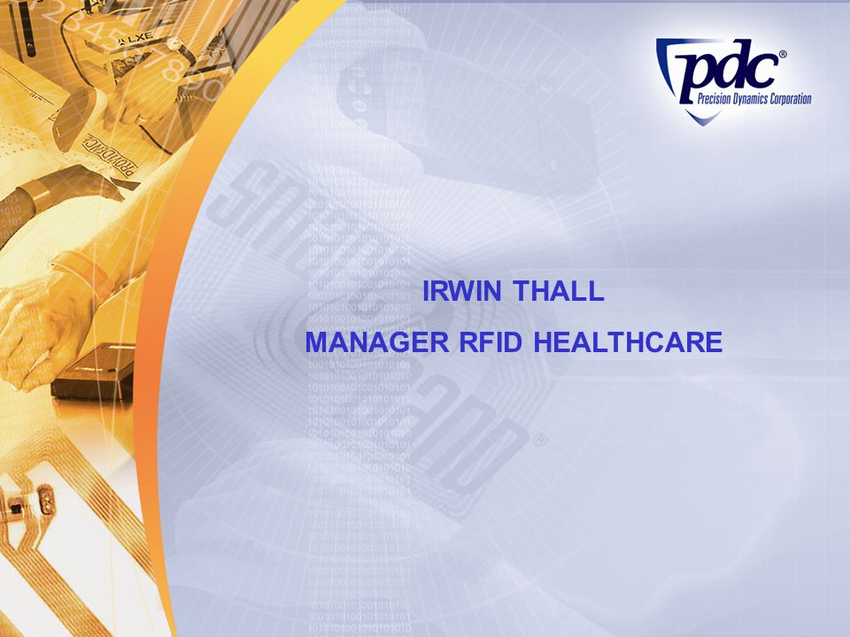 IRWIN THALL MANAGER RFID HEALTHCARE
