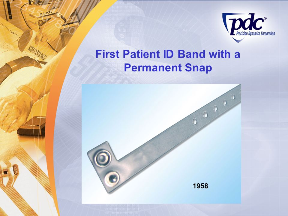 First Patient ID Band with a Permanent Snap 1958