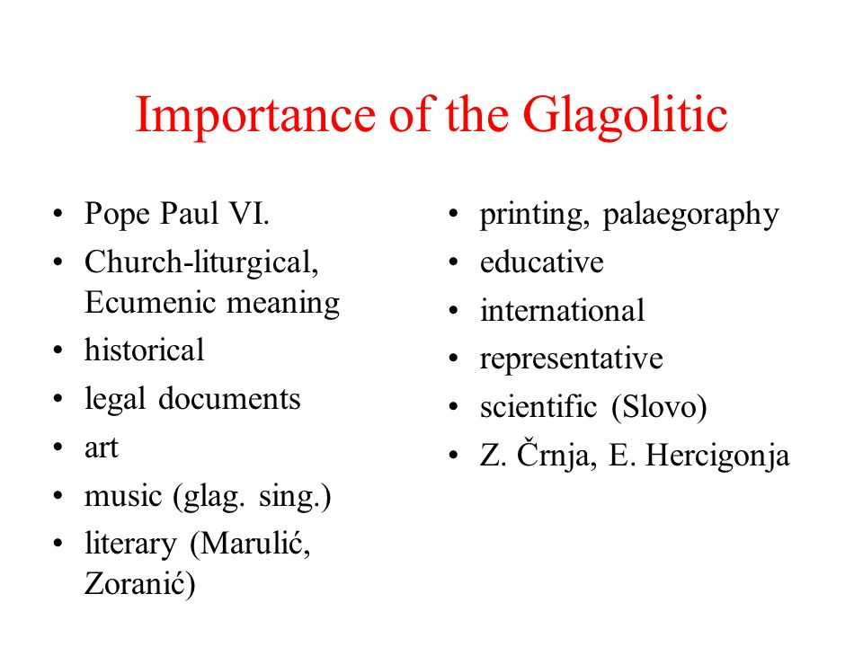 Importance of the Glagolitic Pope Paul VI.