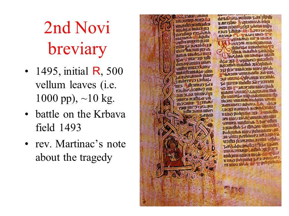 2nd Novi breviary 1495, initial R, 500 vellum leaves (i.e.