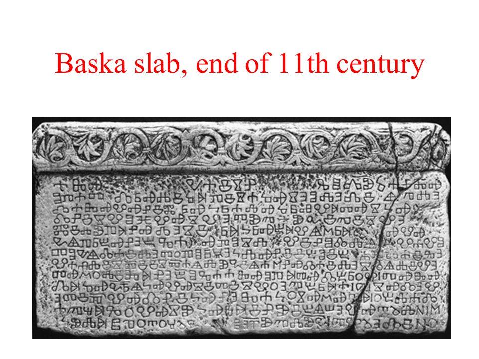 Baska slab, end of 11th century
