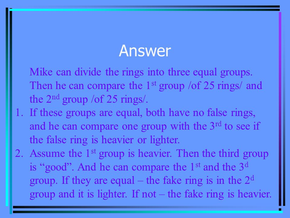 Problem 5 There are 75 similar rings.