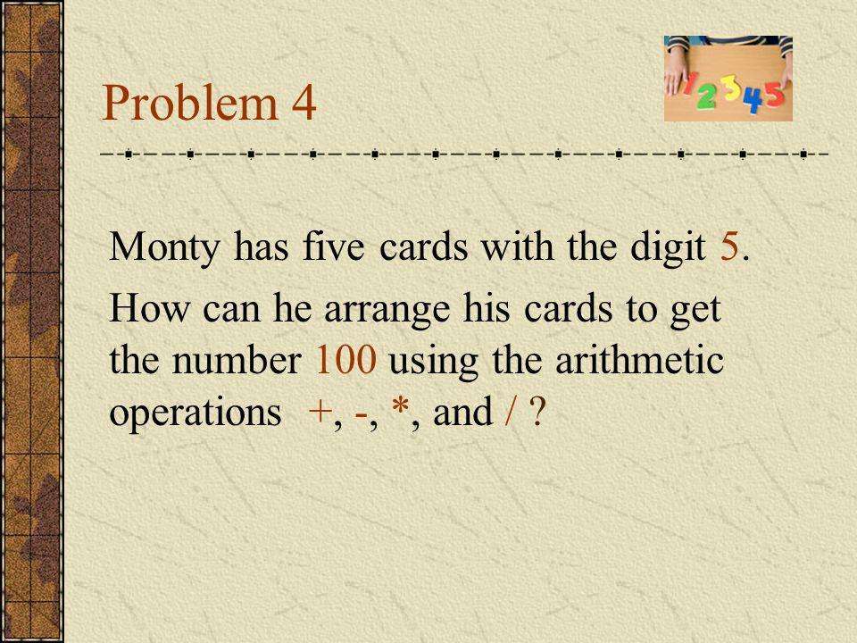 Answer 100=111-11