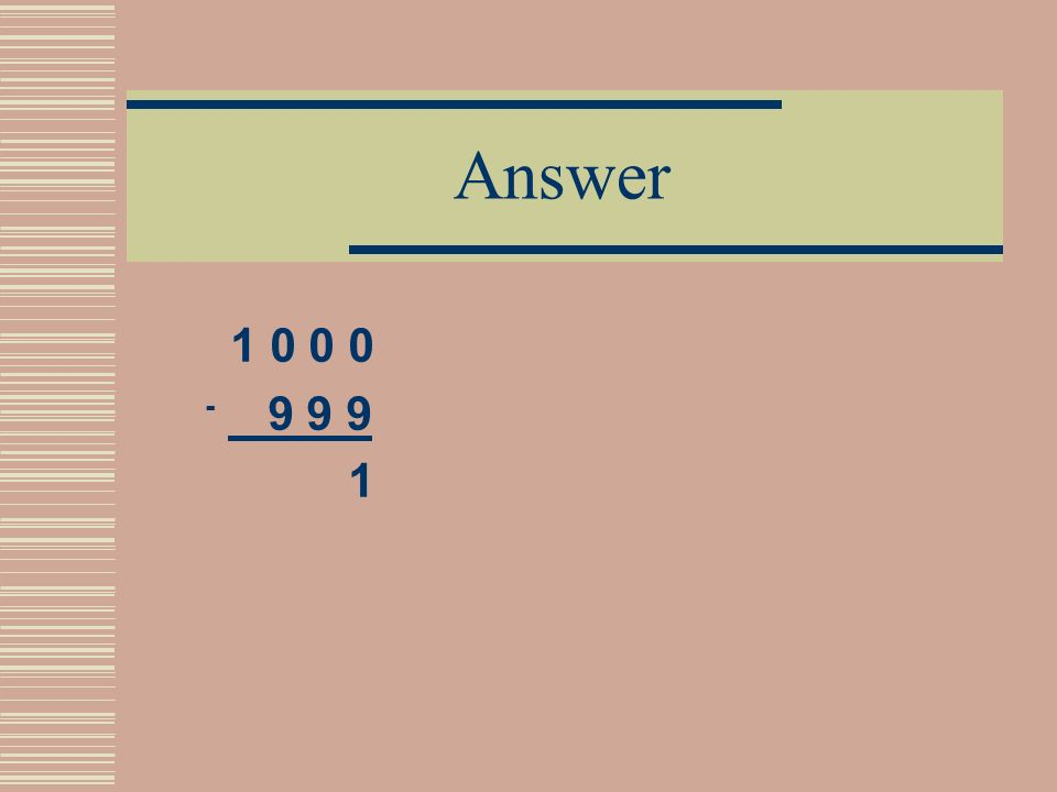 Problem 2 Please, replace the # and & symbols with digits 1 # # # - & & & 1