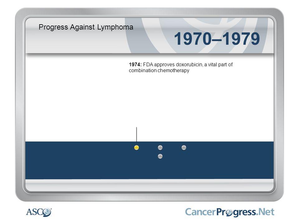 Progress Against Lymphoma 1970–1979 1975: New chemotherapy regimen boosts Hodgkin lymphoma cure rates to 70 percent 1975: Era of bone marrow transplantation begins – extending lives of many patients with leukemia and lymphoma