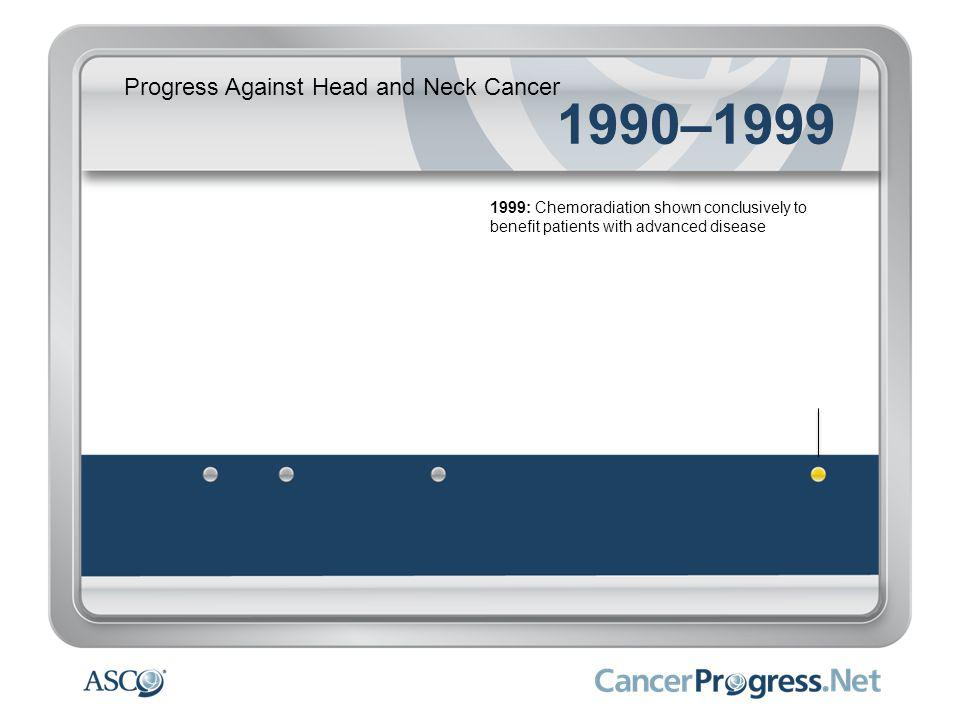 Progress Against Head and Neck Cancer 1990–1999 1999: Chemoradiation shown conclusively to benefit patients with advanced disease