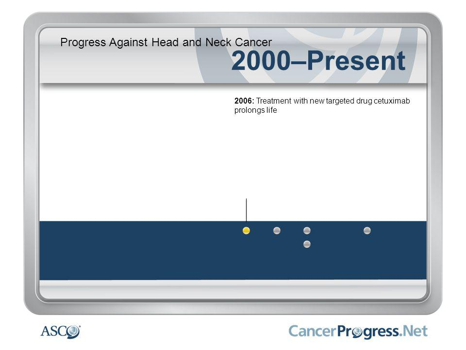 Progress Against Head and Neck Cancer 2000–Present 2006: Treatment with new targeted drug cetuximab prolongs life