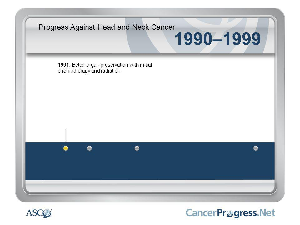 Progress Against Head and Neck Cancer 1990–1999 1991: Better organ preservation with initial chemotherapy and radiation