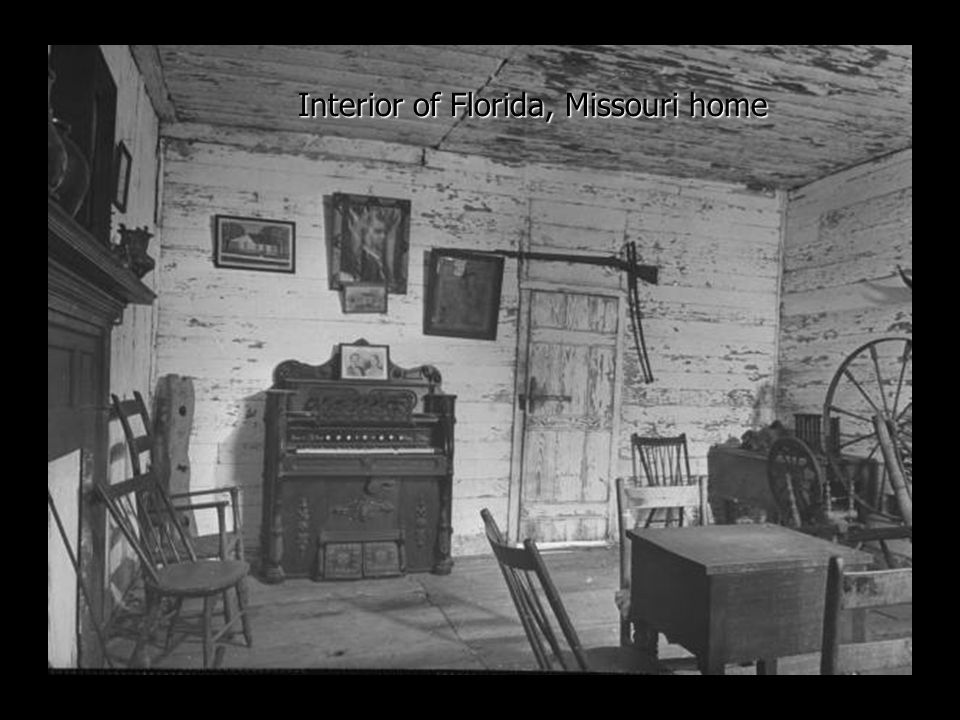 Interior of Florida, Missouri home