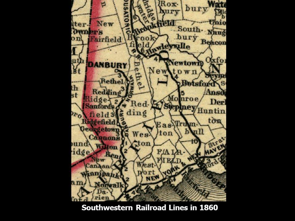 Southwestern Railroad Lines in 1860
