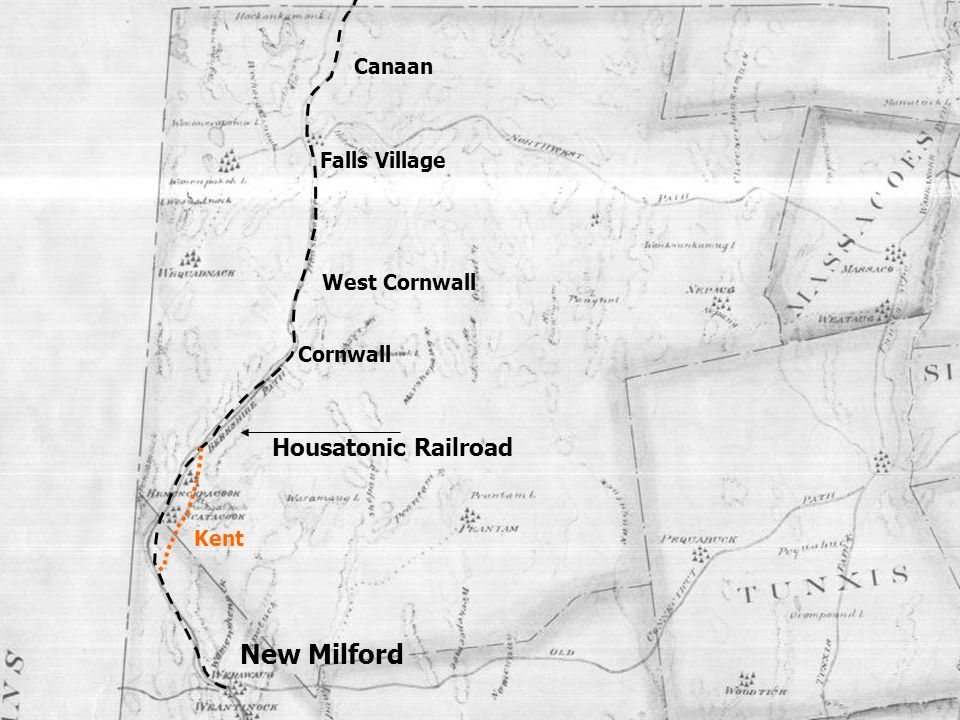 New Milford Housatonic Railroad Falls Village Canaan Kent Cornwall West Cornwall