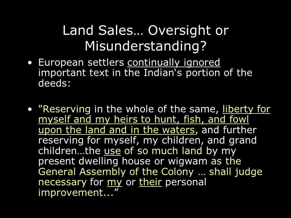 Land Sales… Oversight or Misunderstanding.