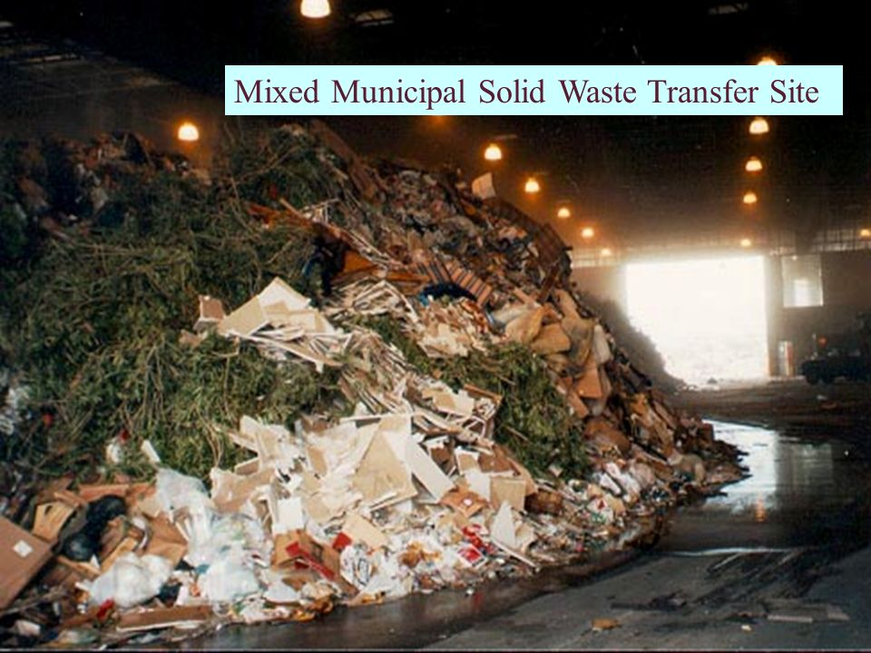 Mixed Municipal Solid Waste Transfer Site