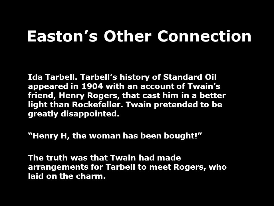 Eastons Other Connection Ida Tarbell.