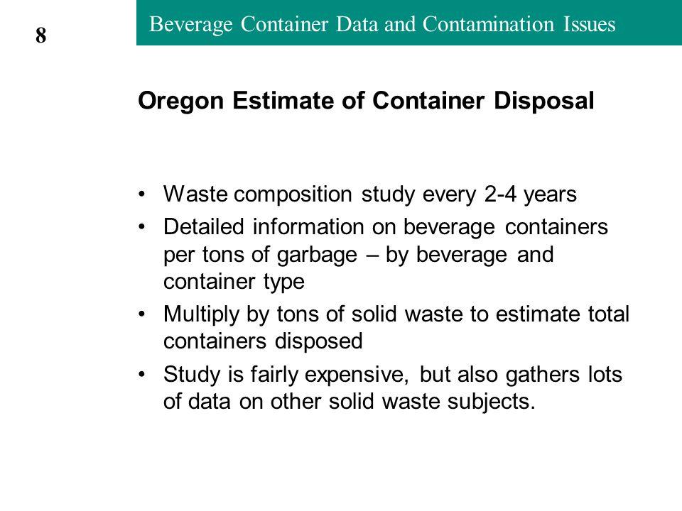 Metro Contamination Studies 2004-05 Non-fiber Recyclables in Newspaper, by processor (Metro 2004-05 study) 19